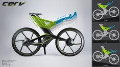 Concept bike from Cannondale and Priority Designs: CERV. How it mutates as you ride it.
