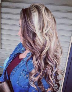 Pin by kalah riley on hair in 2019 dyed hair, hair styles, blonde hair. Underlights Hair, Cute Hair Colors, Latest Hair Color, Hair Color And Cut, Hair Colour, Fall Hair, Locks, Hair Hacks, Cool Hairstyles