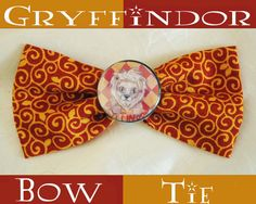 Gryffindor Bow Tie by IntrepidHaberdashery on Etsy, $5.25