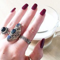 Eclipse - Triple Gemstone & Sterling Silver Ring – Druzy Dreams