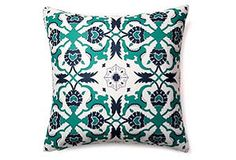 Collide 20x20 Outdoor Pillow, Blue