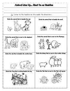20 Best Kindergarten Positional Words images | Words ...