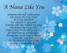 Personalised A Nana Like You Poem Birthday Mothers Day Christmas Gift Present Nana Poems, Nana Quotes, Mothers Day Poems, Mother Poems, You Poem, Poems For Grandma, Grandma Cards, Gift Quotes, Heart Quotes