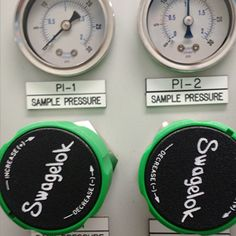 Provided gauges and valves for CEMS monitoring system.