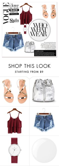 """sheIn"" by lejlar-1 ❤ liked on Polyvore featuring Ancient Greek Sandals, STELLA McCARTNEY, Essie and Who What Wear"
