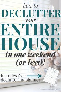 YES, it is possible to declutter your entire home in ONE weekend! These easy instructions show you exactly how to declutter your whole house this weekend!