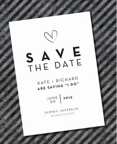 Printed Save The Date Invitations by Baileyandmedesigns on Etsy