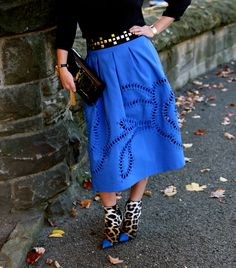 Anthropologie skirt and Zanotti shoes