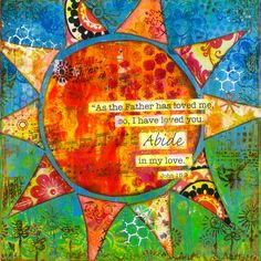 Bible verse Art. Mixed Media Print on Wood: Sun with Scripture. 10x10. Gift.