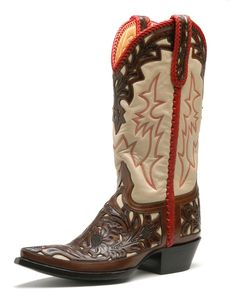 Flore Chale Cowgirl Boots by Liberty Boot Co www.RawhideRanchCo.com