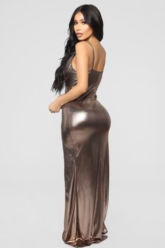 Women S Shoes European Sizes Tight Dresses, Satin Dresses, Sexy Dresses, Nice Dresses, Fashion Dresses, Hollywood Girls, Bollywood Actress Hot Photos, Metallic Dress, Bronze Dress