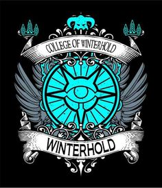 College of Winterhold Crest design! thoughts?? #games #Skyrim #elderscrolls #BE3 #gaming #videogames #Concours #NGC