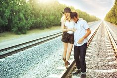 Inspired by this Edgy Railroad Engagement Session | Inspired by This Blog