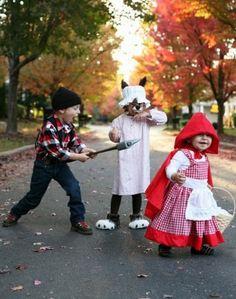 Disfraz de Caperucita, el leñador y el lobo feroz - Ideas de disfraces para niños en Halloween 2013 - enfemenino.com