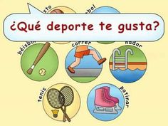 """Teach students to ask, """"What is your favorite sport? (What Is Your Favorite) Spanish Lessons For Kids, Learning Spanish For Kids, Spanish Teaching Resources, Spanish Activities, Spanish Basics, Spanish Songs, Spanish English, How To Speak Spanish, Learn Spanish"""