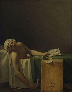 La morte di Marat, 1793, David, olio su tela, Museo reale delle belle arti del Belgio, Bruxelles