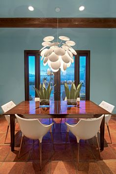 Modern Dining Room With Mediterranean Flair