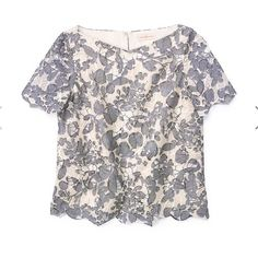 NWOT TORY BURCH crochet cropped top Tory Burch lace or crochet crop top. Bought and never had a chance to wear it. Size 4 or size small. Bought at the Tory Burch store in Chicago. Thick and sturdy material. No flaws since I never wore it. Tory Burch Tops Blouses