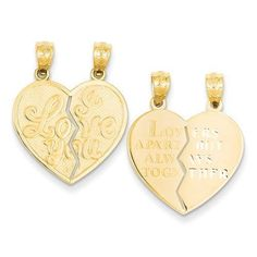 NEW-SOLID-14K-GOLD-BREAK-APART-HEART-I-LOVE-YOU-1-81g-PENDANT-FOR-NECKLACE