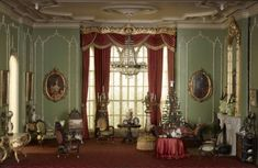 a dollhouse room from the Thorne Room in Chicago