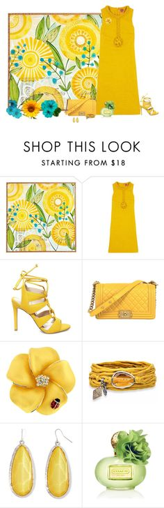 """""""You are My Sunshine"""" by cindy-for-fashion ❤ liked on Polyvore featuring Universal Lighting and Decor, Tory Burch, Steve Madden, Platadepalo, Mixit and Coach"""