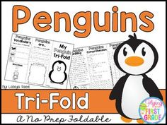 PenguinsCLICK BELOW TO CHECK OUT MY GROWING BUNDLE OF TRIFOLDS.  THERE ARE OVER 90 TOPICS!CHECK OUT THE MONEY SAVING GROWING BUNDLECLICK BELOW TO CHECK OUT OTHER TRI-FOLDSNEW YEARS TRI-FOLDPENGUINS TRI-FOLDTri-Folds Can Be Used For Literacy Centers Social Studies Mini Lesson Small Groups Homework Partner Work Research  Individual Work Group Work Tri-Fold Skills Included Vocabulary Writing Reading Passage Comprehension Fluency Art