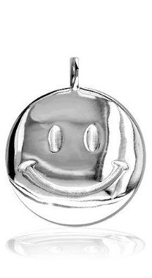 Amazon.com: Large Size Happy (Smiley) Face Jewelry Charm in Sterling Silver: Sziro Jewelry Designs: Jewelry