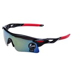 OCULOS UV400 Mirrored Wrap-Around Sport Sunglasses