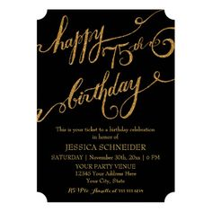 Shop Sixtieth Birthday Party Ticket Celebration Invitation created by PatternsModerne. Personalize it with photos & text or purchase as is! 75th Birthday Parties, Diy 1st Birthday Invitations, Happy 90th Birthday, Birthday Party Celebration, Fortieth Birthday, Birthday Ideas, Birthday Sayings, Birthday Images, Birthday Greetings