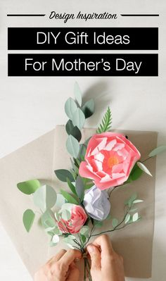 Mother's Day is only a few days away and you've put off preparations until the last minute. Reasons aside, you could desperately use help pulling off a gift that shows mom just how much you love her. Luckily for you, we've compiled 14 Pinterest inspired last minute Mother's Day gift ideas. Love You Mom, Love Her, Country Weddings, Last Minute, Mother Day Gifts, Diy Design, Diy Gifts, Origami, Diy And Crafts