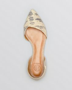 Tory Burch Pointed Toe D'Orsay Flats - Viv | Bloomingdale's