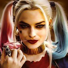 Margot Robbie as Harley Quinn Harley Quinn Tattoo, Harley Quinn Drawing, Harley Quinn Cosplay, Joker And Harley Quinn, Harely Quinn And Joker, Arlequina Margot Robbie, Margot Robbie Harley Quinn, Arley Queen, Harle Quinn