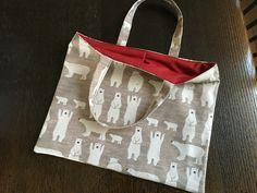 kids tote bag(polar bear): MAME  FUKU  handemade