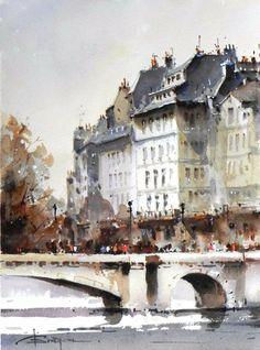 Artist: Corneliu Drăgan-Târgoviște, Romanian watercolorist