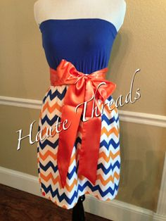 Haute Threads Boutique OKC Thunder Chevron Dress