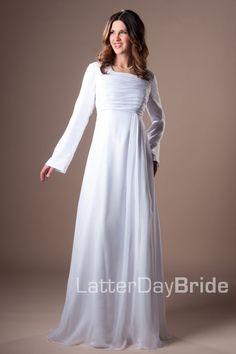 Modest Wedding Dress, Louisville | LatterDayBride & Prom -Modest Mormon LDS Temple Dress