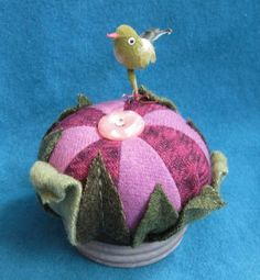 Felted Wool Pretty Bird Pincushion Kit by quiltingacres on Etsy, $20.00