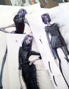 awesome Fashion Sketchbook - fashion design sket... University inspiration