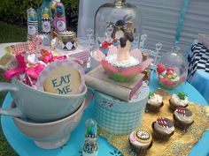 Alice in Wonderland birthday party! See more party planning ideas at CatchMyParty.com!