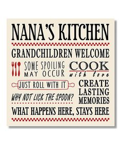 Another great find on #zulily! Nana's Kitchen Wall Art #zulilyfinds