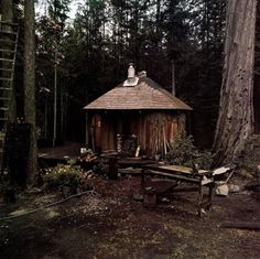 Cabin Fever Bungalows, Cabin Homes, Log Homes, Cabin In The Woods, Cabins And Cottages, Log Cabins, Natural Building, Tiny House Movement, Small Places