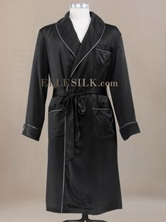 Comfort meets style in this luxurious men's silk robe.