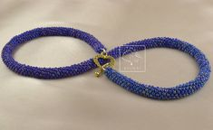 Tubular peyote is more challenging than flat peyote. I got help from Leslie and Jill and I made it! Expensive Cars, Blue Bags, Bead Weaving, I Am Awesome, My Design, Feminine, Beaded Necklaces, Beads