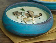 Creamy Walnut-Mushroom Soup w/ Thyme {raw vegan}
