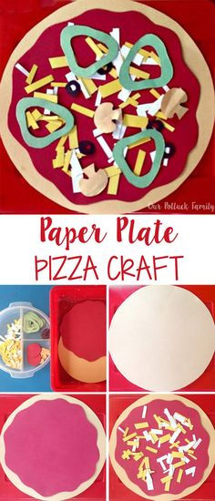 Kids Food Craft: Paper Pizza - Our Potluck Family