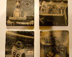 University of Oklahoma Vintage Coasters Set/4 by KrisKrafft