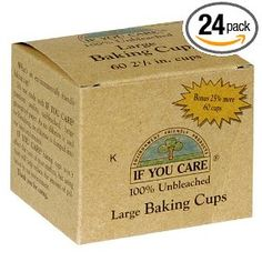 If You Care Unbleached Large Baking Cups, 60-Count Boxes (Pack of 24), (baking cups, baking, eco-friendly, portion control, unbleached)