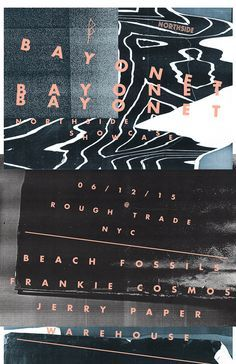 Bayonet Records Northside Showcase Poster http://beachfossilsnyc.tumblr.com/post/115764671621/bayonet-records-northside-showcase-06-12-2015