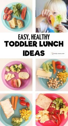Easy, healthy toddler lunch ideas
