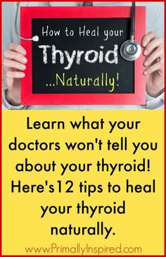 12 Tips For How to Heal Your Thyroid Naturally - www.primallyinspired.com